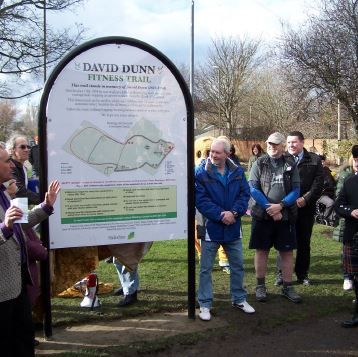 David Dunn fitness trail launch