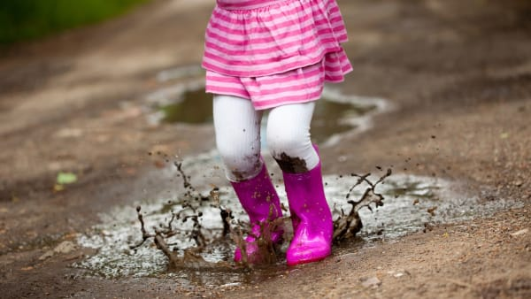 I love Jumping up and down in muddy puddles