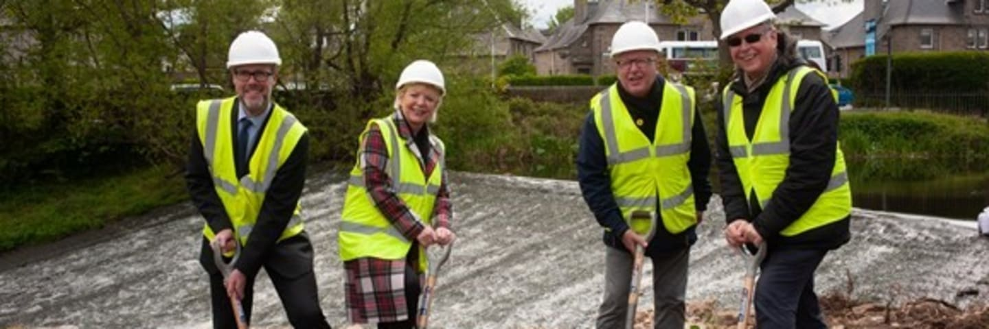 Ground-breaking at Saughton Park for micro-hydro ParkPower project